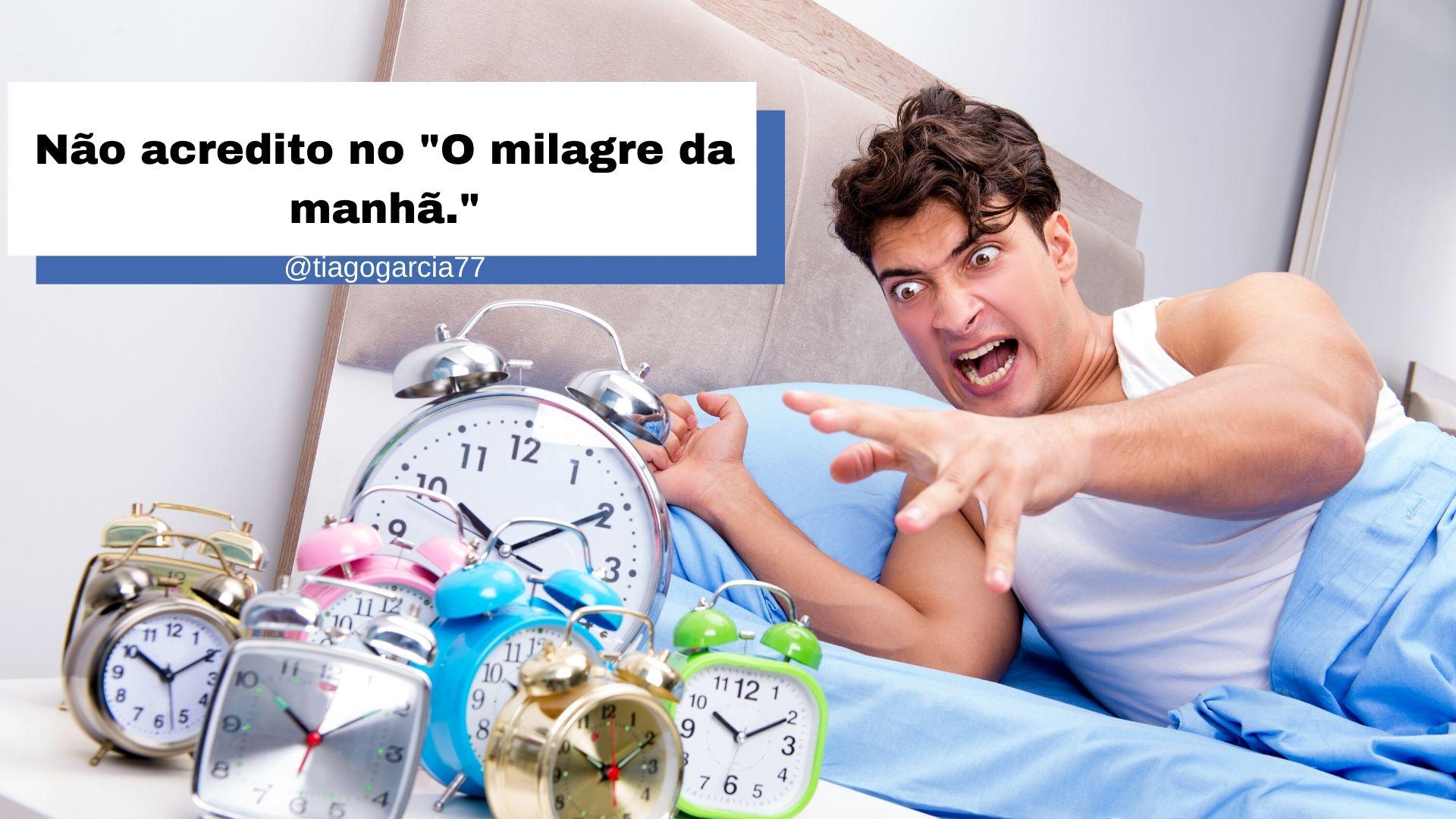 """NÃO ACREDITO NO """"O MILAGRE DA MANHÔ"""